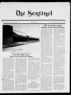 Primary view of object titled 'The Sentinel (Sachse, Tex.), Vol. 13, No. 6, Ed. 1 Wednesday, February 10, 1988'.