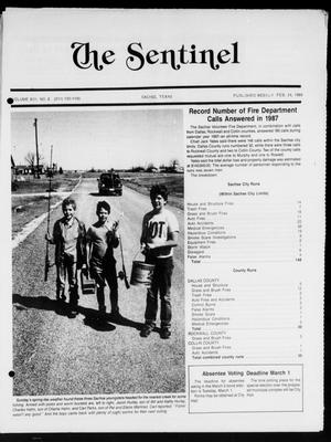 Primary view of object titled 'The Sentinel (Sachse, Tex.), Vol. 13, No. 8, Ed. 1 Wednesday, February 24, 1988'.