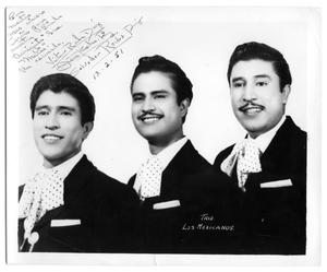 "Primary view of object titled 'Photograph of group ""Trio Los Mexicanos""'."