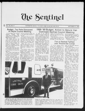 Primary view of object titled 'The Sentinel (Sachse, Tex.), Vol. 13, No. 37, Ed. 1 Wednesday, September 14, 1988'.