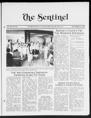 Primary view of object titled 'The Sentinel (Sachse, Tex.), Vol. 13, No. 38, Ed. 1 Wednesday, September 21, 1988'.