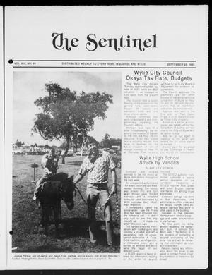 Primary view of object titled 'The Sentinel (Sachse, Tex.), Vol. 13, No. 39, Ed. 1 Wednesday, September 28, 1988'.