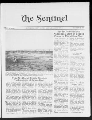 Primary view of object titled 'The Sentinel (Sachse, Tex.), Vol. 13, No. 41, Ed. 1 Wednesday, October 12, 1988'.
