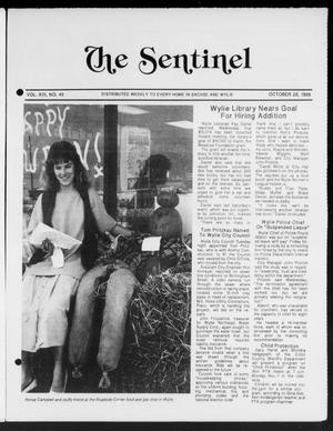 Primary view of object titled 'The Sentinel (Sachse, Tex.), Vol. 13, No. 43, Ed. 1 Wednesday, October 26, 1988'.