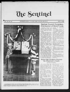Primary view of object titled 'The Sentinel (Sachse, Tex.), Vol. 13, No. 45, Ed. 1 Wednesday, November 9, 1988'.