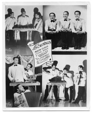 Four paneled poster of a musical band