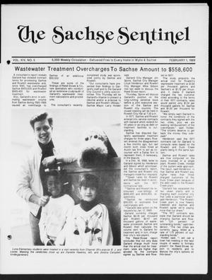 Primary view of object titled 'The Sachse Sentinel (Sachse, Tex.), Vol. 14, No. 5, Ed. 1 Wednesday, February 1, 1989'.