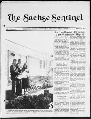 Primary view of object titled 'The Sachse Sentinel (Sachse, Tex.), Vol. 14, No. 10, Ed. 1 Wednesday, March 8, 1989'.