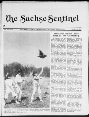 Primary view of object titled 'The Sachse Sentinel (Sachse, Tex.), Vol. 14, No. 11, Ed. 1 Wednesday, March 15, 1989'.