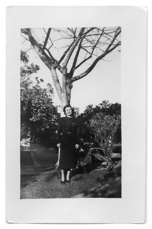 Primary view of object titled '[Photography of Woman Under Tree]'.