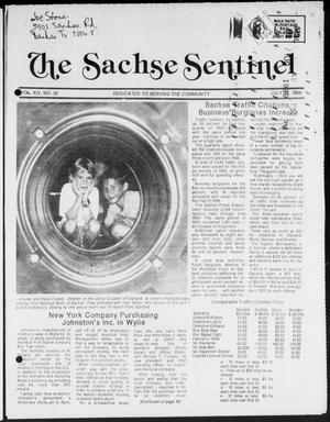 Primary view of object titled 'The Sachse Sentinel (Sachse, Tex.), Vol. 14, No. 30, Ed. 1 Wednesday, July 26, 1989'.