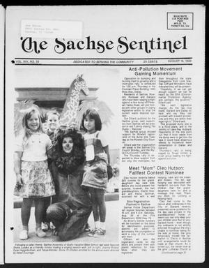 Primary view of object titled 'The Sachse Sentinel (Sachse, Tex.), Vol. 14, No. 33, Ed. 1 Wednesday, August 16, 1989'.
