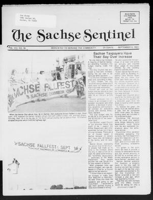 Primary view of object titled 'The Sachse Sentinel (Sachse, Tex.), Vol. 14, No. 36, Ed. 1 Wednesday, September 6, 1989'.