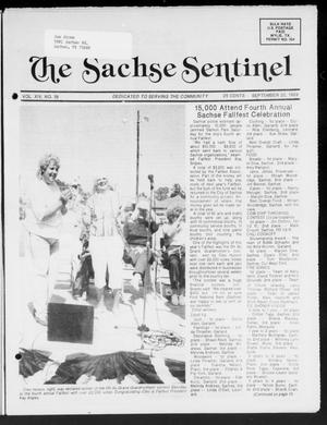 Primary view of object titled 'The Sachse Sentinel (Sachse, Tex.), Vol. 14, No. 38, Ed. 1 Wednesday, September 20, 1989'.