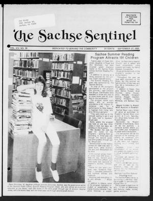 Primary view of object titled 'The Sachse Sentinel (Sachse, Tex.), Vol. 14, No. 39, Ed. 1 Wednesday, September 27, 1989'.