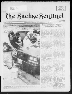 Primary view of object titled 'The Sachse Sentinel (Sachse, Tex.), Vol. 14, No. 40, Ed. 1 Wednesday, October 4, 1989'.