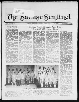Primary view of object titled 'The Sachse Sentinel (Sachse, Tex.), Vol. 14, No. 45, Ed. 1 Wednesday, November 8, 1989'.