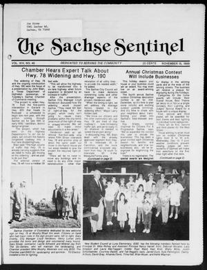 Primary view of object titled 'The Sachse Sentinel (Sachse, Tex.), Vol. 14, No. 46, Ed. 1 Wednesday, November 15, 1989'.