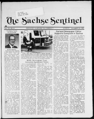 Primary view of object titled 'The Sachse Sentinel (Sachse, Tex.), Vol. 14, No. 51, Ed. 1 Wednesday, December 20, 1989'.