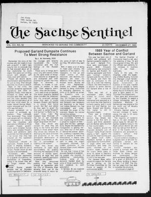 Primary view of object titled 'The Sachse Sentinel (Sachse, Tex.), Vol. 14, No. 52, Ed. 1 Wednesday, December 27, 1989'.