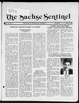 Primary view of object titled 'The Sachse Sentinel (Sachse, Tex.), Vol. 15, No. 3, Ed. 1 Wednesday, January 17, 1990'.