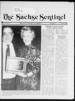 Primary view of object titled 'The Sachse Sentinel (Sachse, Tex.), Vol. 15, No. 4, Ed. 1 Wednesday, January 24, 1990'.