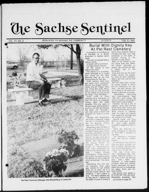 Primary view of object titled 'The Sachse Sentinel (Sachse, Tex.), Vol. 15, No. 8, Ed. 1 Wednesday, February 21, 1990'.