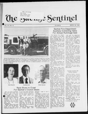 Primary view of object titled 'The Sachse Sentinel (Sachse, Tex.), Vol. 15, No. 13, Ed. 1 Wednesday, March 28, 1990'.
