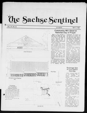 Primary view of object titled 'The Sachse Sentinel (Sachse, Tex.), Vol. 15, No. 18, Ed. 1 Wednesday, May 2, 1990'.