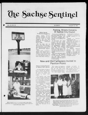 Primary view of object titled 'The Sachse Sentinel (Sachse, Tex.), Vol. 15, No. 34, Ed. 1 Wednesday, August 22, 1990'.