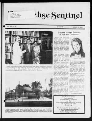 Primary view of object titled 'The Sachse Sentinel (Sachse, Tex.), Vol. 15, No. 35, Ed. 1 Wednesday, August 29, 1990'.
