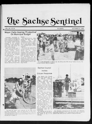 Primary view of object titled 'The Sachse Sentinel (Sachse, Tex.), Vol. 15, No. 38, Ed. 1 Wednesday, September 19, 1990'.