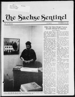 Primary view of object titled 'The Sachse Sentinel (Sachse, Tex.), Vol. 15, No. 48, Ed. 1 Wednesday, November 28, 1990'.