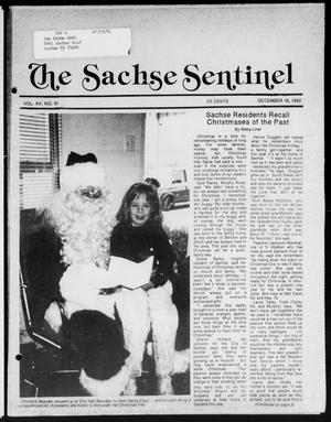 Primary view of object titled 'The Sachse Sentinel (Sachse, Tex.), Vol. 15, No. 51, Ed. 1 Wednesday, December 19, 1990'.
