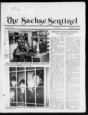 Primary view of object titled 'The Sachse Sentinel (Sachse, Tex.), Vol. 16, No. 3, Ed. 1 Wednesday, January 16, 1991'.