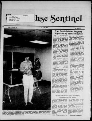 Primary view of object titled 'The Sachse Sentinel (Sachse, Tex.), Vol. 16, No. 29, Ed. 1 Wednesday, July 17, 1991'.