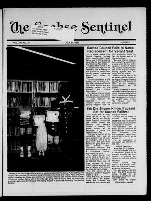 Primary view of object titled 'The Sachse Sentinel (Sachse, Tex.), Vol. 16, No. 31, Ed. 1 Wednesday, July 31, 1991'.