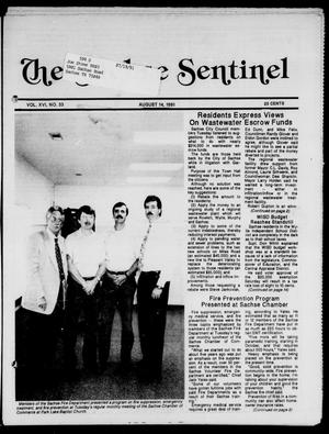 Primary view of object titled 'The Sachse Sentinel (Sachse, Tex.), Vol. 16, No. 33, Ed. 1 Wednesday, August 14, 1991'.