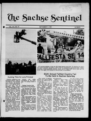 Primary view of object titled 'The Sachse Sentinel (Sachse, Tex.), Vol. 16, No. 37, Ed. 1 Wednesday, September 11, 1991'.