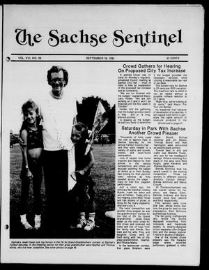 Primary view of object titled 'The Sachse Sentinel (Sachse, Tex.), Vol. 16, No. 38, Ed. 1 Wednesday, September 18, 1991'.