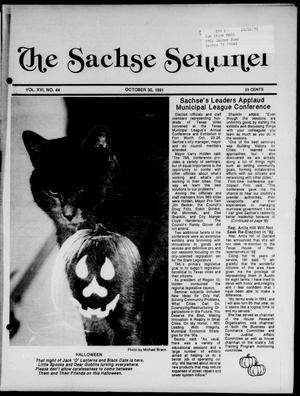 Primary view of object titled 'The Sachse Sentinel (Sachse, Tex.), Vol. 16, No. 44, Ed. 1 Wednesday, October 30, 1991'.