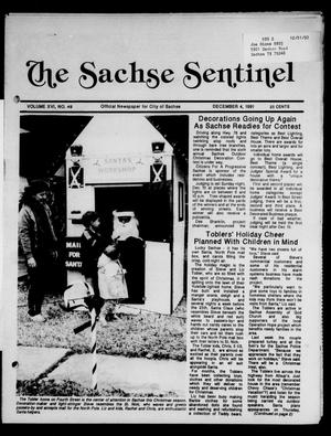 Primary view of object titled 'The Sachse Sentinel (Sachse, Tex.), Vol. 16, No. 49, Ed. 1 Wednesday, December 4, 1991'.