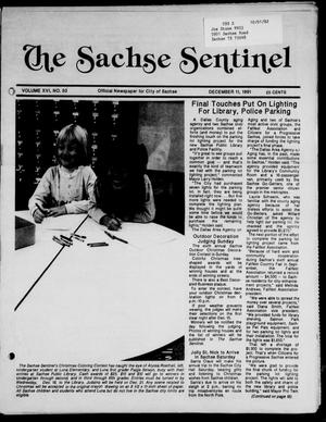 Primary view of object titled 'The Sachse Sentinel (Sachse, Tex.), Vol. 16, No. 50, Ed. 1 Wednesday, December 11, 1991'.