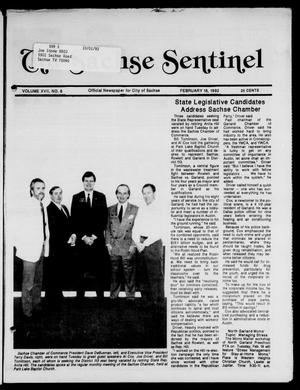 Primary view of object titled 'The Sachse Sentinel (Sachse, Tex.), Vol. 17, No. 8, Ed. 1 Tuesday, February 18, 1992'.