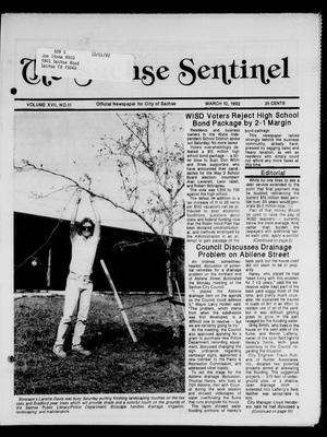 Primary view of object titled 'The Sachse Sentinel (Sachse, Tex.), Vol. 17, No. 11, Ed. 1 Tuesday, March 10, 1992'.