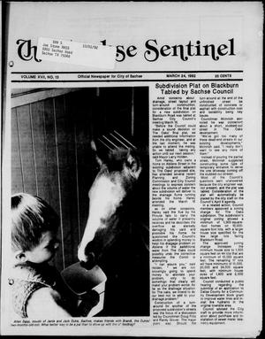 Primary view of object titled 'The Sachse Sentinel (Sachse, Tex.), Vol. 17, No. 13, Ed. 1 Tuesday, March 24, 1992'.