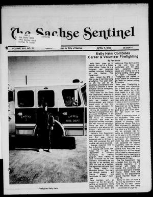 Primary view of object titled 'The Sachse Sentinel (Sachse, Tex.), Vol. 17, No. 15, Ed. 1 Tuesday, April 7, 1992'.