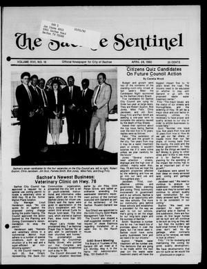 Primary view of object titled 'The Sachse Sentinel (Sachse, Tex.), Vol. 17, No. 18, Ed. 1 Tuesday, April 28, 1992'.
