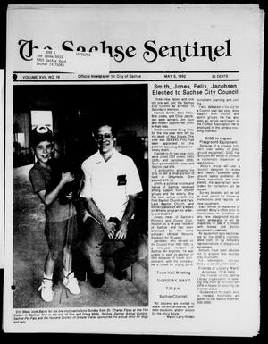 Primary view of object titled 'The Sachse Sentinel (Sachse, Tex.), Vol. 17, No. 19, Ed. 1 Tuesday, May 5, 1992'.
