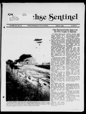 Primary view of object titled 'The Sachse Sentinel (Sachse, Tex.), Vol. 17, No. 25, Ed. 1 Tuesday, June 16, 1992'.